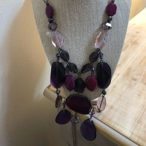 New Chico's purple necklace